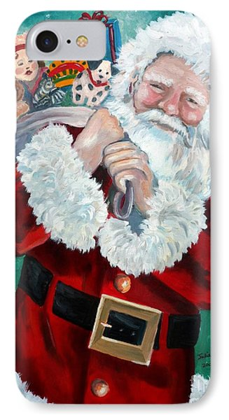 Santa's Coming To Town IPhone Case by Julie Brugh Riffey