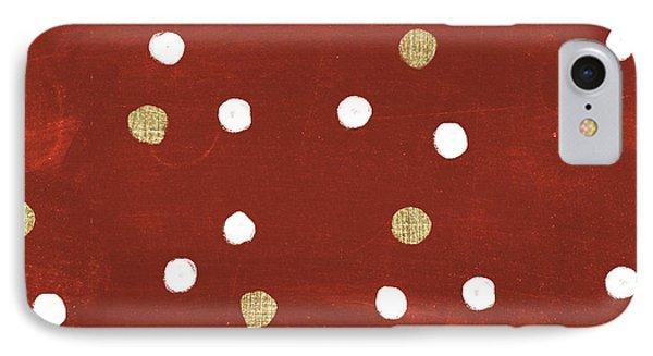 Santas List Pattern V IPhone Case by Janelle Penner