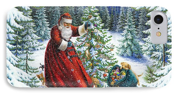 Santa's Little Helpers IPhone Case by Lynn Bywaters