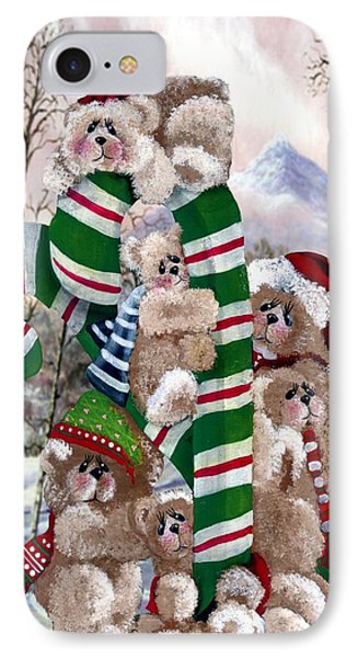 Santa's Little Helpers IPhone Case by Ron and Ronda Chambers