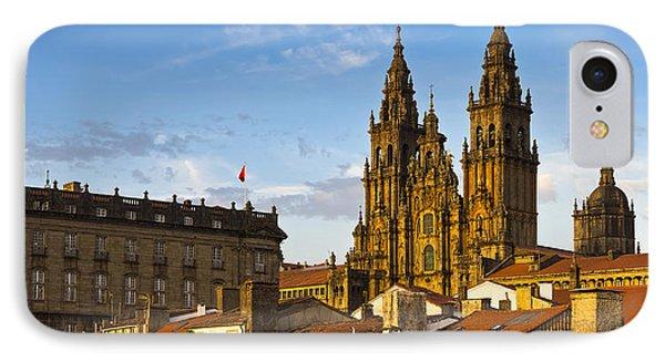 IPhone Case featuring the photograph Santiago De Compostela Cathedral Galicia Spain by Pablo Avanzini