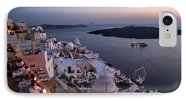 Santorini At Dusk IPhone Case by David Smith