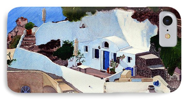 Santorini Cave Homes IPhone Case by Mike Robles