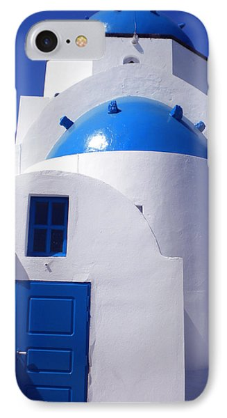 IPhone Case featuring the photograph Santorini Church  by Colette V Hera  Guggenheim