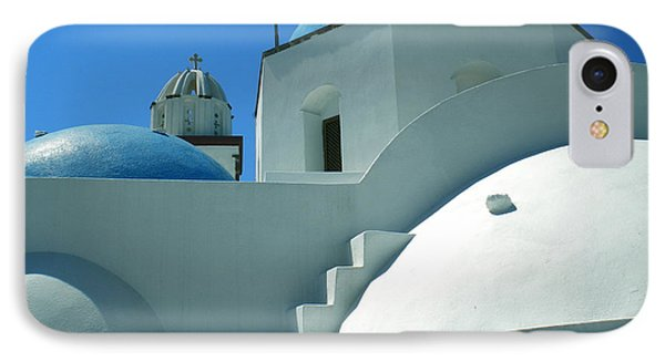 IPhone Case featuring the photograph Santorini Church Greece by Colette V Hera  Guggenheim