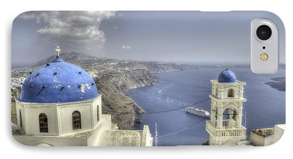 Santorini Churches IPhone Case by Alex Dudley