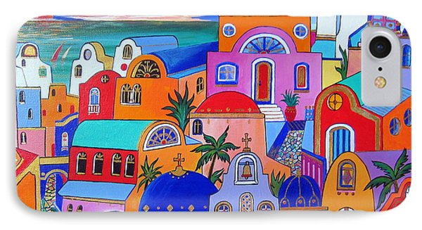 Santorini Colors IPhone Case
