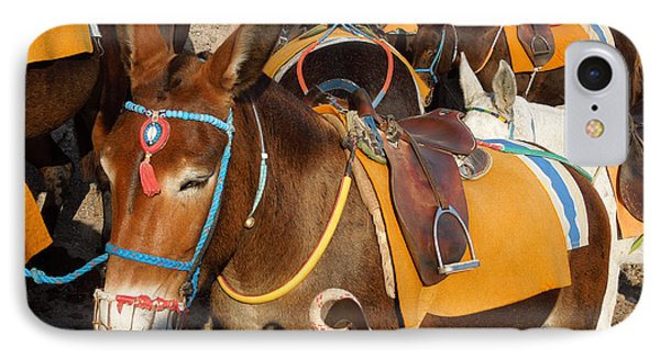 Santorini Donkeys Ready For Work IPhone Case