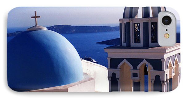 IPhone Case featuring the photograph Santorini  Island Church Greece  by Colette V Hera  Guggenheim