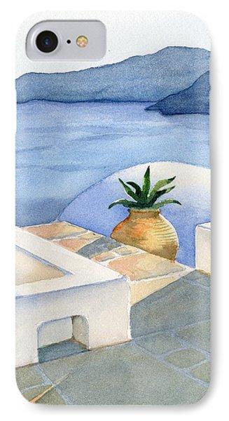 Santorini IPhone Case by Marsha Elliott