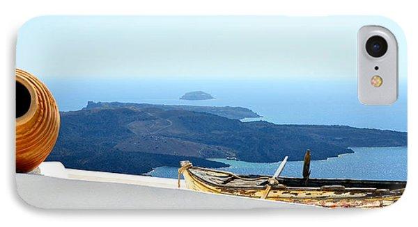 Santorini Rooftop IPhone Case by Corinne Rhode
