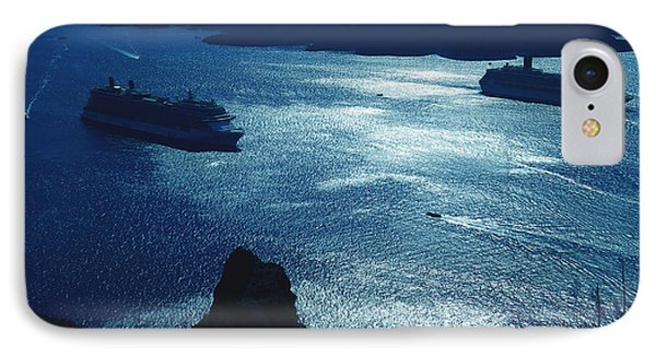 IPhone Case featuring the photograph Santorini  Silent Night View Greece by Colette V Hera  Guggenheim