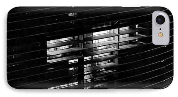 Sao Paulo - Brazil - Detail Of Copan Building By Night Phone Case by Carlos Alkmin