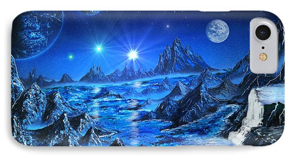 Sapphire Planet IPhone Case by Michael Rucker