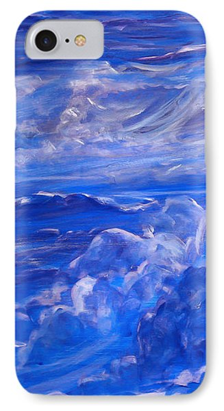 Sapphire Sea IPhone Case by Heather  Hiland