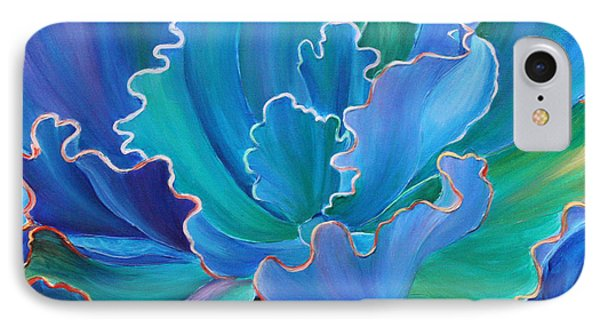 IPhone Case featuring the painting Sapphire Solitaire by Sandi Whetzel