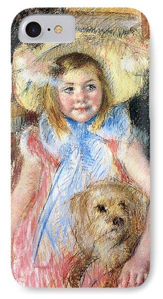 Sara And Her Dog Phone Case by Mary Stevenson Cassatt