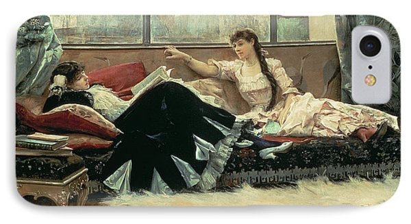 Sarah Bernhardt And Christine Nilsson IPhone Case by Julius Leblanc Stewart