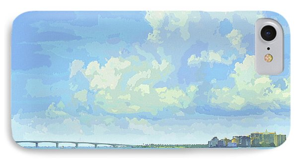 Sarasota Skyline From Sarasota Bay IPhone Case