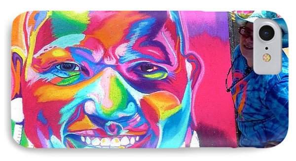 Sarasota's Colorful Face Phone Case by Mythica Von Griffyn