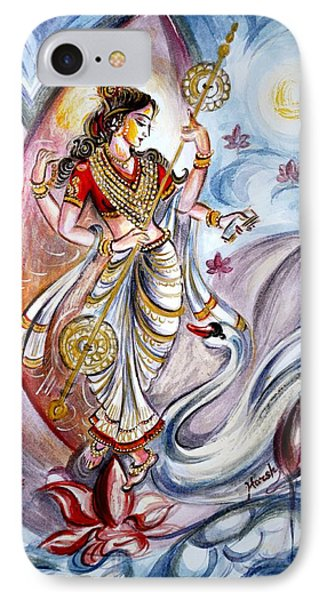 Saraswati IPhone Case by Harsh Malik