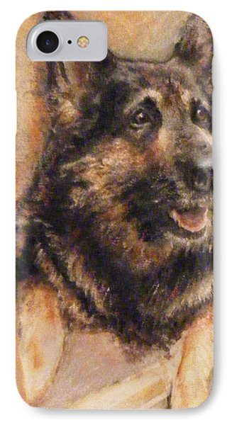 IPhone Case featuring the painting Sasha German Shepherd by Richard James Digance