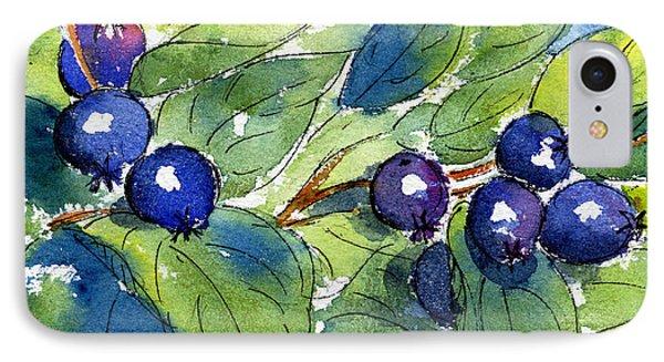 Saskatoon Berries IPhone Case by Pat Katz