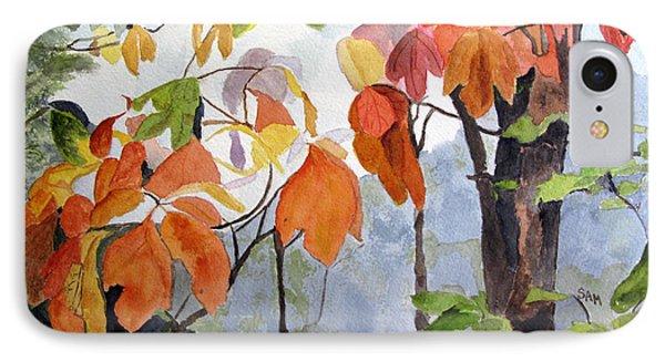 Sassafras Trees On The Ridge IPhone Case by Sandy McIntire