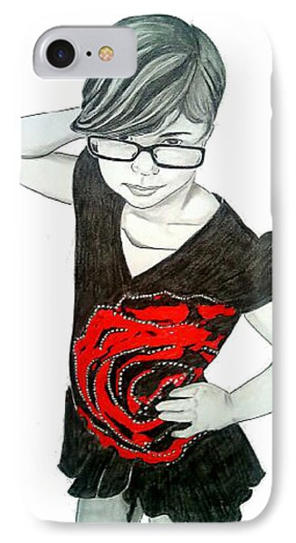 IPhone Case featuring the drawing Sassy Izzy by Justin Moore