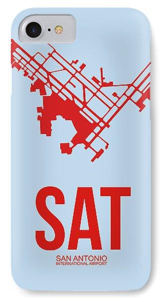 Sat San Antonio Airport Poster 1 IPhone Case by Naxart Studio