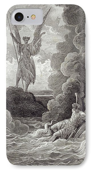 Satan And Beelzebub IPhone Case by Gustave Dore