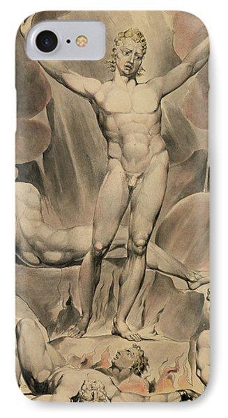 Satan Arousing The Rebel Angels, 1808 IPhone Case by William Blake