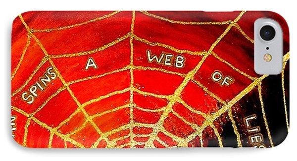 Satan's Web IPhone Case by Karen Jane Jones