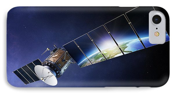 Satellite Communications With Earth IPhone Case by Johan Swanepoel
