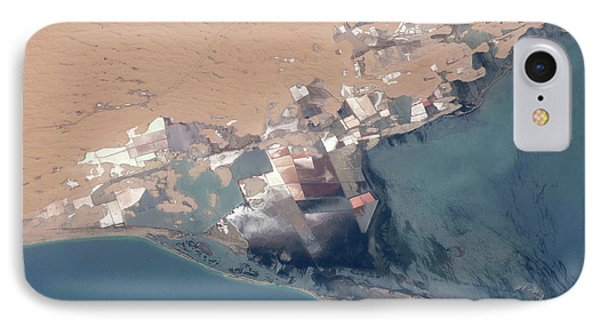 Satellite View Of Bardawil Lake, North IPhone Case