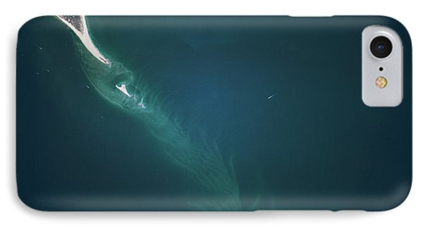 Satellite View Of Cape Lookout Area IPhone Case