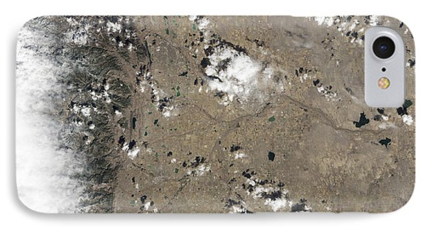 Satellite View Of Fort Collins IPhone Case by Stocktrek Images
