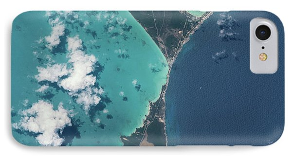 Satellite View Of North Eleuthera IPhone Case