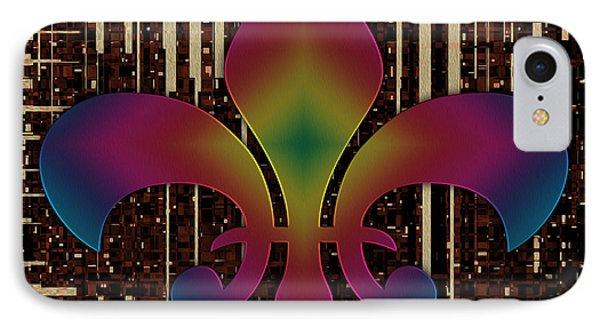 Satin Lily Symbol Digital Painting Phone Case by Georgeta Blanaru