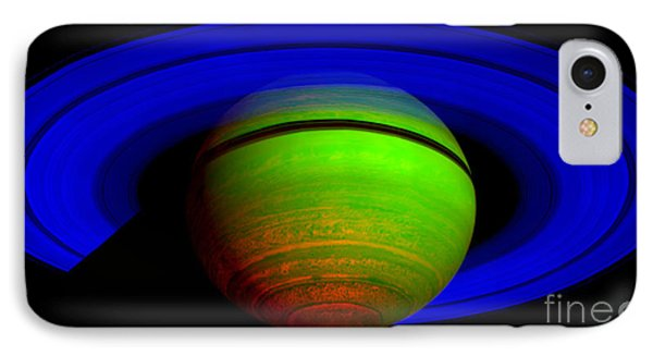 Saturn In Color Phone Case by Paul Ward