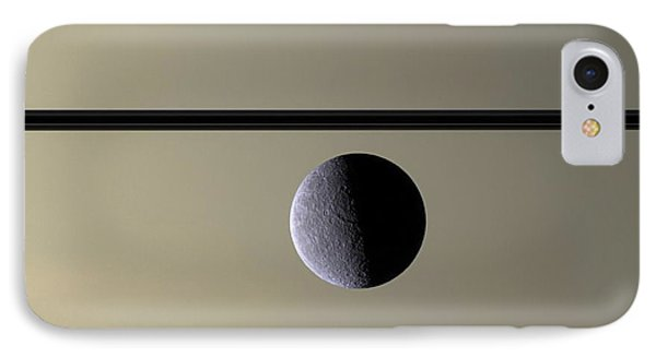 Saturn Rhea Contemporary Abstract IPhone Case by Adam Romanowicz