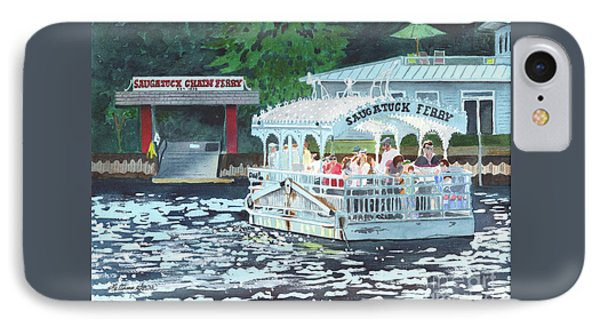 Saugatuck Chain Ferry IPhone Case by LeAnne Sowa