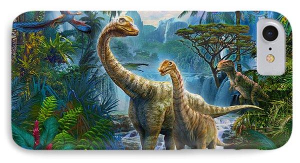 Sauropods II IPhone Case by Jan Patrik Krasny