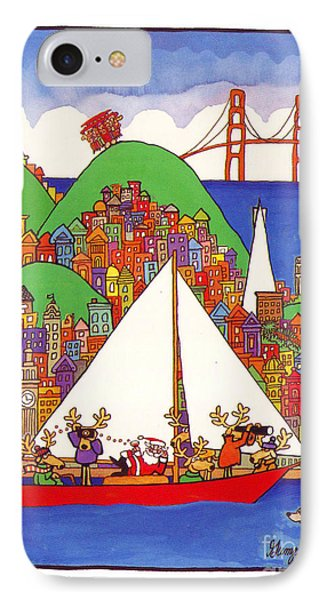 Sausalito Christmas IPhone Case by Robert Gumpertz