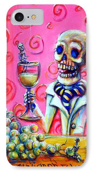 IPhone Case featuring the painting Mi Sauvignon Blanc by Heather Calderon