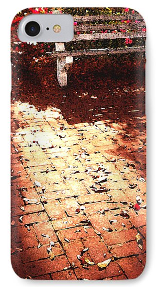 Savannah Bench At Sunset IPhone Case