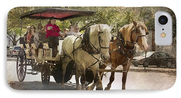 Savannah Carriage Ride IPhone Case by Carrie Cranwill
