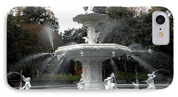 Savannah Georgia Forsythe Fountain - Forsythe Fountain Square Dreamy Landscape  IPhone Case