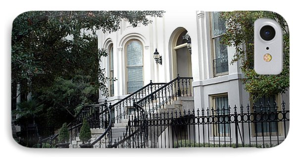 Savannah Georgia Historical District Victorian Homes Architecture - Savannah Mansions IPhone Case