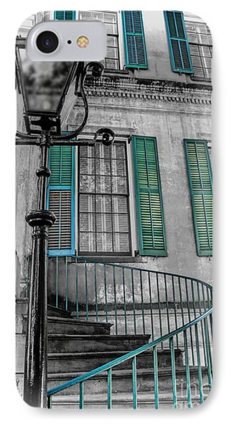 Savannah Green House IPhone Case by Henry Kowalski